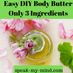Easy DIY Body Butter Only 3 Ingredients